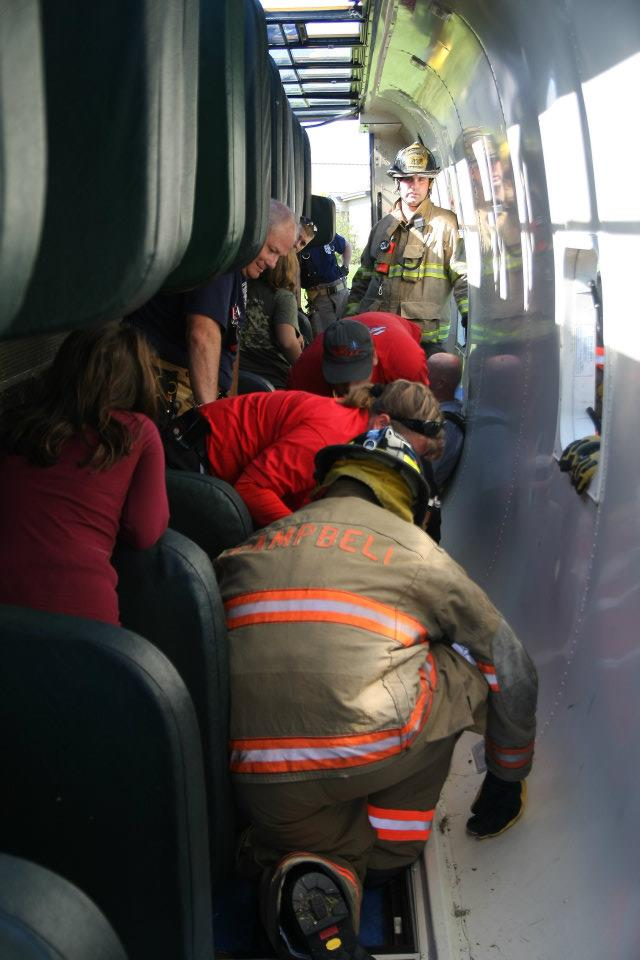 LifeFleet EMTs and Campbell Fire Dept. perform drill.